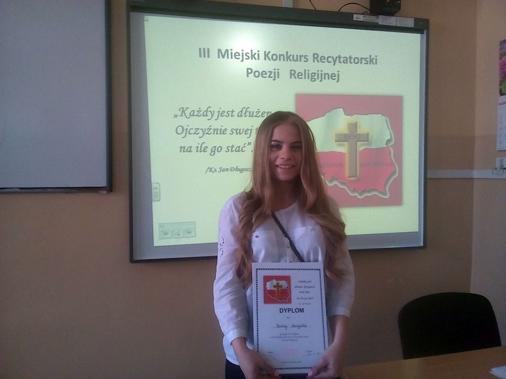 Paulina Morzywołek Z Klasy 2c Lo Zwyciężyła W Iii Miejskim